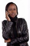 детеныши женщины африканского телефона южные стоковые изображения