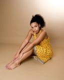 детеныши женщины афроамериканца стоковое изображение rf
