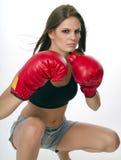 детеныши женщины боксера стоковое фото