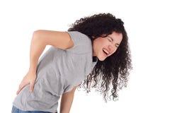 детеныши женщины боли в спине стоковые фотографии rf