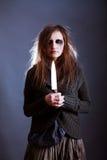 детеныши женщины ведьмы halloween Стоковые Фотографии RF