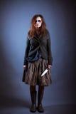 детеныши женщины ведьмы halloween Стоковое Изображение RF