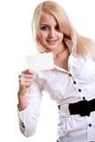 детеныши женщины визитной карточки стоковое фото rf