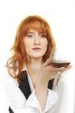 детеныши женщины вискиа дела стеклянные сексуальные Стоковые Фотографии RF