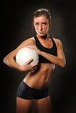 детеныши женщины волейбола стоковое фото