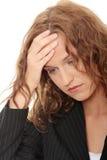 детеныши женщины головной боли дела Стоковое Изображение