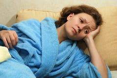 детеныши женщины головной боли Стоковая Фотография