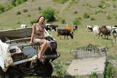 детеныши женщины долины Стоковая Фотография RF