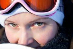 детеныши женщины зимы дня Стоковое фото RF