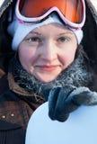 детеныши женщины зимы дня Стоковые Изображения RF