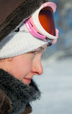 детеныши женщины зимы дня Стоковое Изображение