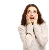 детеныши женщины крупного плана счастливые стоковое изображение