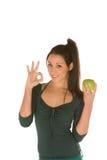 детеныши женщины кузнца бабушки яблока Стоковая Фотография
