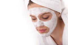 детеныши женщины маски внимательности тела лицевые Стоковое Изображение RF