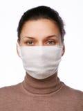 детеныши женщины маски медицинские Стоковое Фото