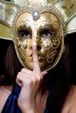 детеныши женщины маски venetian Стоковые Фотографии RF