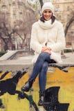 детеныши женщины места города урбанские Стоковое Изображение RF