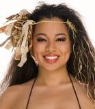 детеныши женщины обмундирования tahitian Стоковые Изображения RF