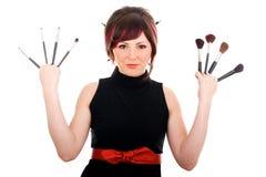 детеныши женщины парикмахера Стоковое Фото