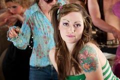 детеныши женщины партии нот диско 1970s Стоковое Изображение RF