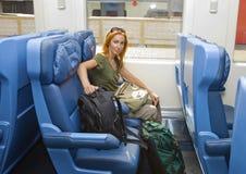 детеныши женщины поезда автомобиля Стоковые Фото