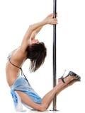 детеныши женщины полюса танцульки сексуальные Стоковая Фотография
