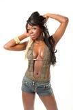 детеныши женщины портрета афроамериканца красивейшие стоковая фотография rf