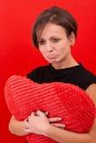 детеныши женщины портрета upset Стоковое Фото
