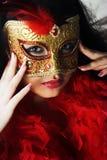детеныши женщины привлекательного красивейшего портрета золота carni нося Стоковая Фотография RF