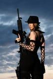 детеныши женщины пушки стильные Стоковое Изображение