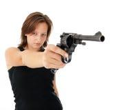 детеныши женщины пушки Стоковое Изображение