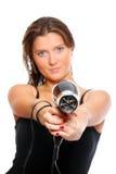 детеныши женщины пушки Стоковое Фото