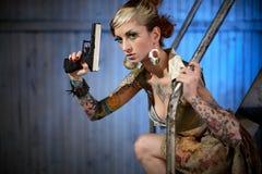 детеныши женщины пушки Стоковые Фото