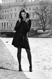 детеныши женщины реки канала итальянские Стоковое Фото