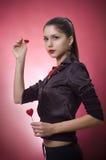 детеныши женщины сердец стоковые фотографии rf