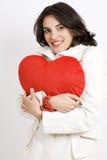 детеныши женщины сердца Стоковая Фотография RF