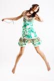 детеныши женщины скача Стоковое Фото