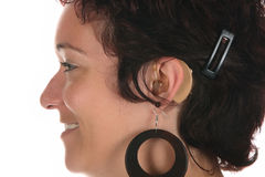детеныши женщины слуха помощи красивейшие Стоковые Изображения RF