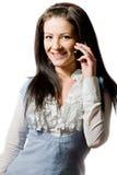 детеныши женщины сотового телефона говоря Стоковое Фото