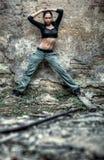 детеныши женщины стены предпосылки Стоковое Изображение RF