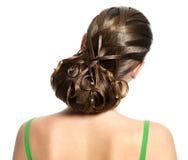 детеныши женщины творческого стиля причёсок самомоднейшие Стоковые Фотографии RF