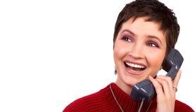 детеныши женщины телефона стоковые фото