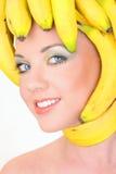 детеныши женщины типа волос банана Стоковые Фотографии RF