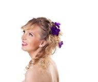 детеныши женщины типа красивейших волос милые Стоковое Изображение