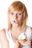 детеныши женщины торта Стоковое фото RF