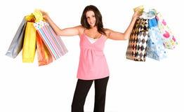 детеныши женщины увеличения объема покупок Стоковое фото RF