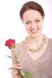 детеныши женщины цветка Стоковое Изображение RF