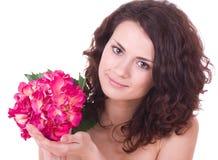 детеныши женщины цветка Стоковые Фото