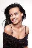детеныши женщины черных волос стоковые фотографии rf