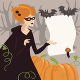 детеныши женщины halloween costume Стоковая Фотография RF